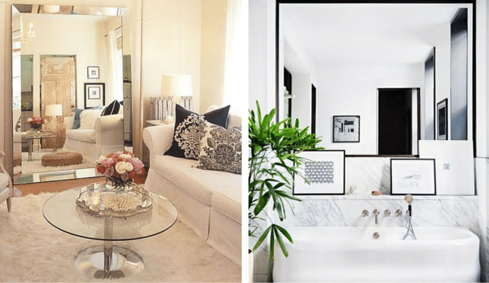 Style Tips For Small Homes - Using A Mirror To Enlarge A Room