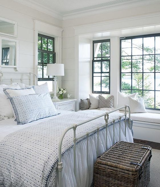 Sash Window Decoration - Image From HouseAndHome.com