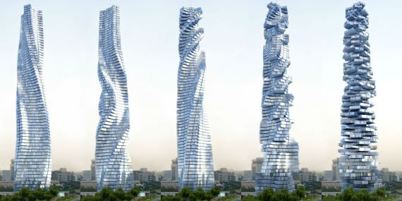 Innovations of the future: architectural design - Designed by David Fisher - The world's first rotating skyscraper In Dubai