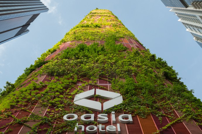 Innovations of the future: architectural design - Oasia Hotel Downtown Singapore -