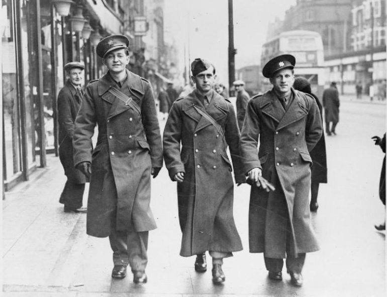 The Evolution Of The Trench Coat Allied Soldiers Visiting London