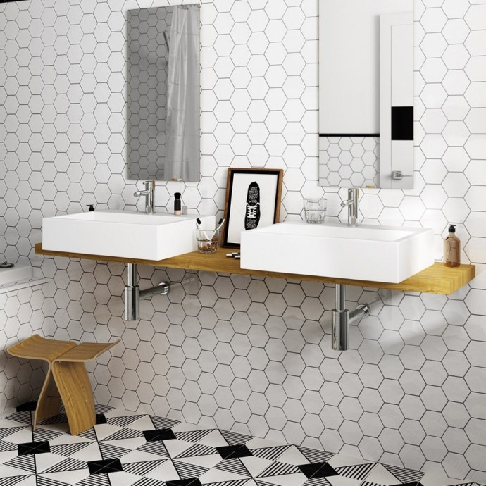 4 Tile Trends To Watch Out For In Spring 2019 - Hexagon Tiles - Image From CrownTiles.co.uk