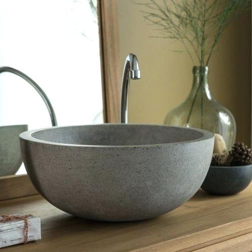 Three Ways To Use Concrete In A Bathroom - Concrete Sink - Image Via WayFair