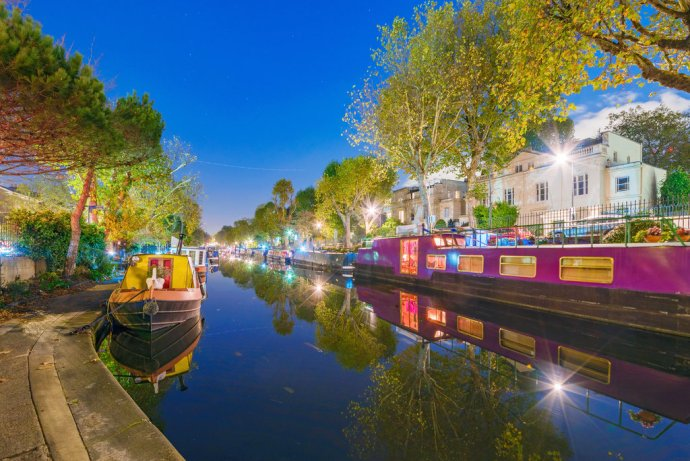 Little Venice At Night In London