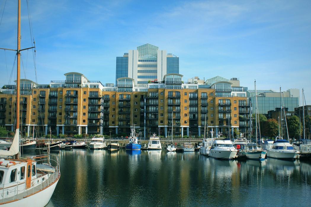 St Katharine dock in London, United Kingdom
