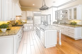 Kitchen Design Drawing/Picture.