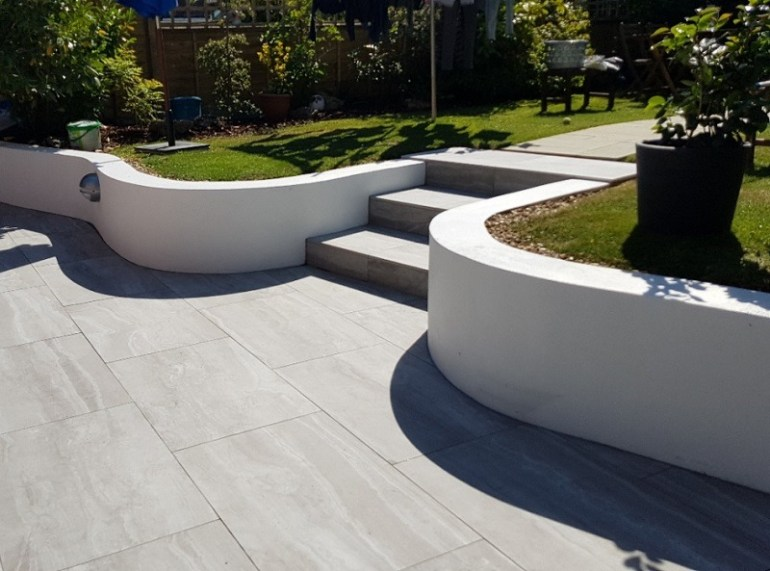 Garden With Tiled Area
