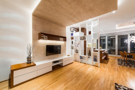 Modern Living Room With Wooden Flooring