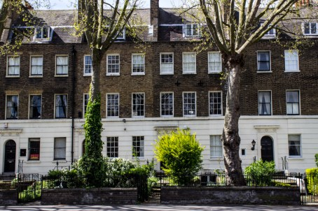 Houses built in the 1770s on Kennington Road