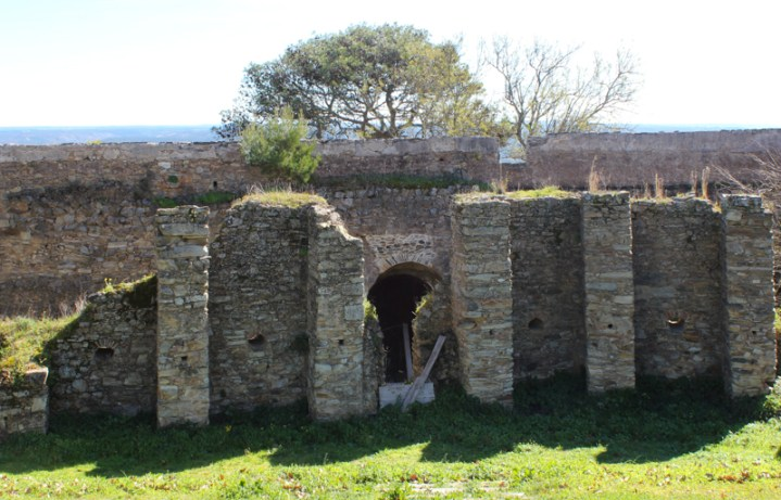 Part of the original Mediaeval Castle, with entrance?