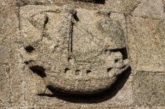 Ship carved on to Notre Dame de Croas Batz
