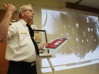 Retired London fire chief Jim Fitzgerald gave a presentation to about 40 people Thursday (May 17) on the history of firefighting in London with a focus on the former Fire Hall No. 5, which was located on Adelaide Street.