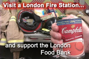 Please visit any London Fire Station to make your drop off your non-perishable food donations.