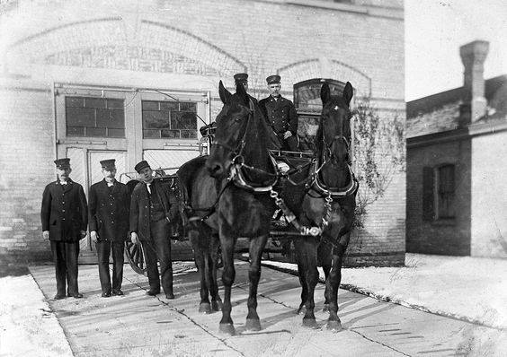 London Fire Department on Bruce Street c 1915
