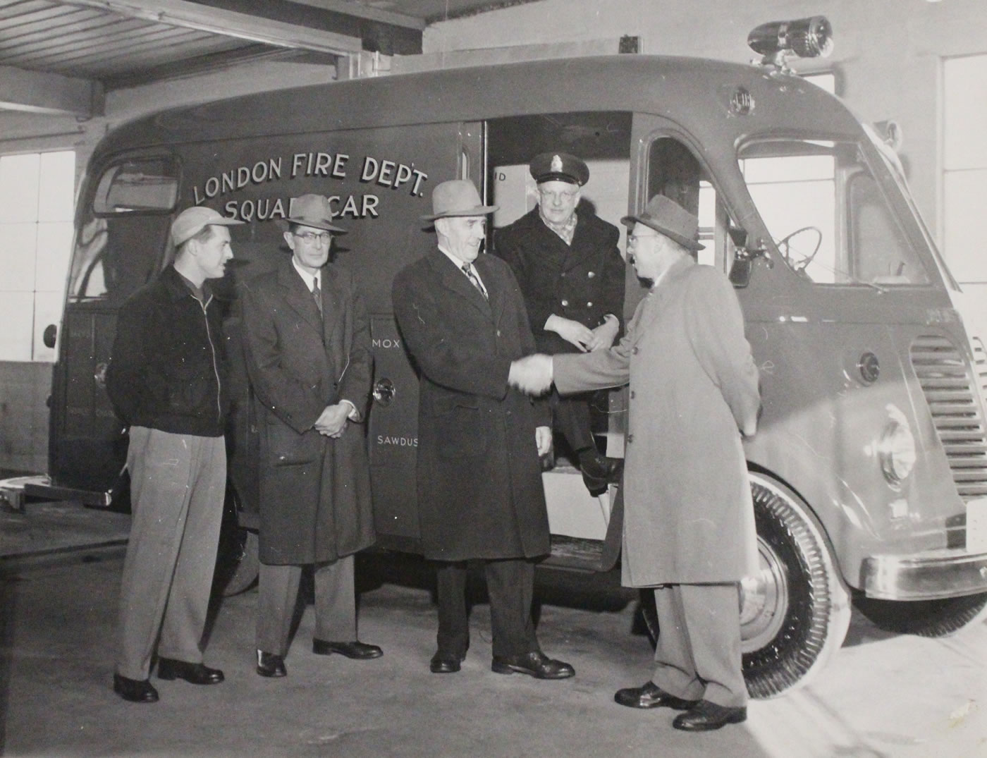 Receiving the new rescue squad
