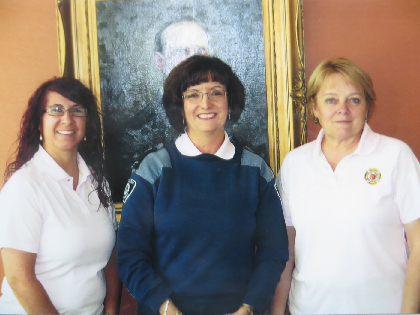 G. Hosiawa (Administrative Clerk-Administration), D. O'Brien (Administrative Clerk-Training) and E. Belanger (Administrative Clerk-Apparatus) October 2015
