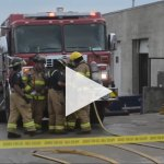 Garage fire injures one