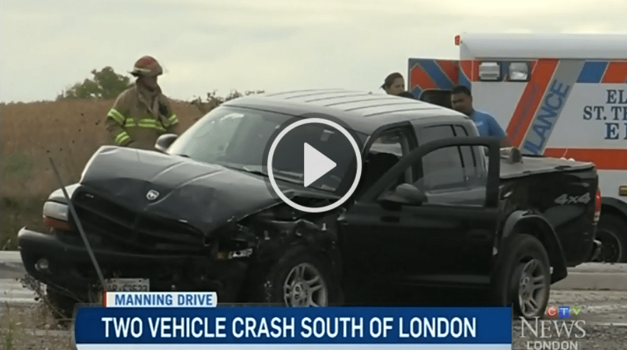 Vehicles heavily damaged after crash in the city