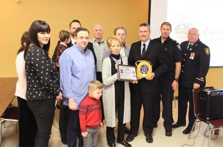 Defibrillator donation in memory of London Fire Department member Les Eaid. (Facebook | Dave Mounsey Memorial Fund)