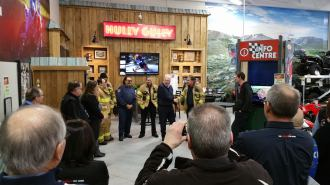 A big thank you from our team to yours as we thank and show tribute to the brave first responders that came to our and our guard dogs aide. Words cannot express our gratitude and we are thankful every day. London City Fire Department (Source: Facebook | Hully Gully)