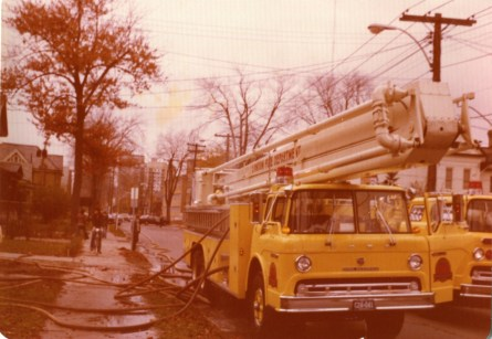 Truck 1 connected and putting out a house fire.
