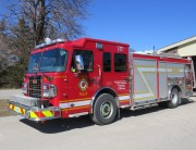 Fire engine 9 parked in front of Station 9