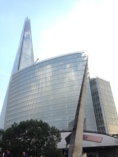 The Shard and other glassy buildings.