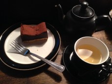 Chocolate tarte and peppermint tea. Enough sad.