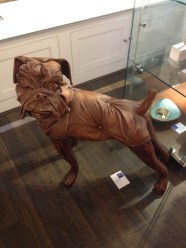 One gallery had a lot of upholstered doggies.