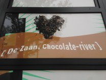 We saw this poster on our way to the windmill park and had no idea what was in store. As you get closer to the river, it smells of chocolate!