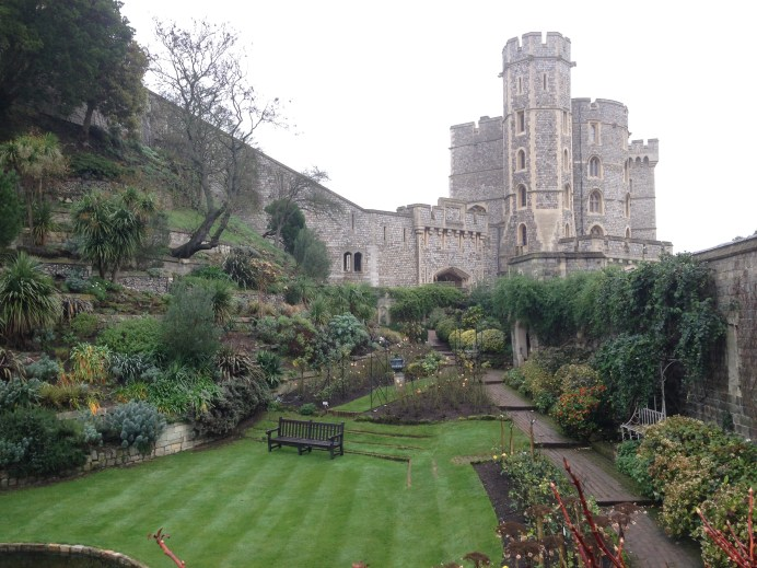 Beautiful gardens within the walls of the castle.