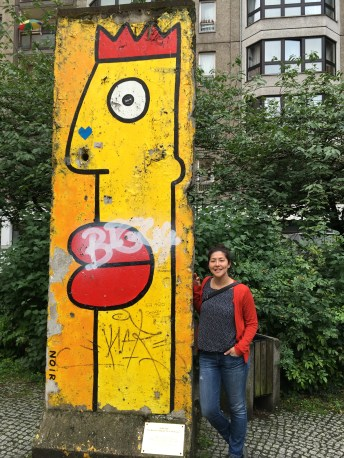 Find them all! Slabs of the wall pop up in various parts of the city (Thierry Noir face)