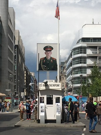 Check point Charlie and probably the most googled soldier ever...I'll leave you to it.