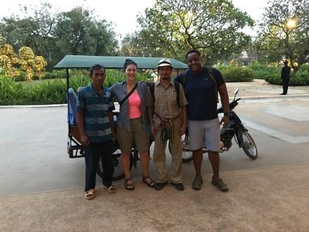 L to R: Mr. Paul, TKF, Soriya (guide), CCS