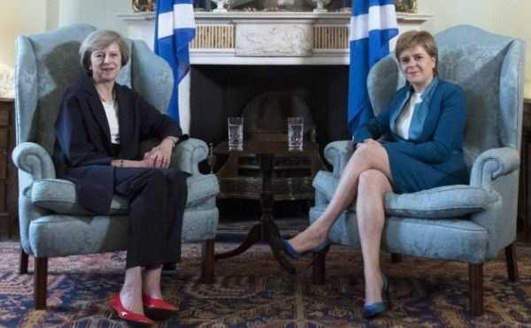 PM, Theresa May and  Scottish First Minister, Nicola Sturgeon