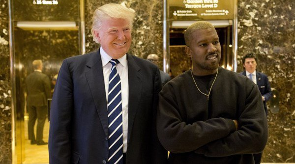 President Elect Donald Trump taking a photo with Kanye West.