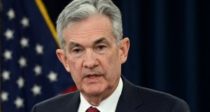Federal Reserve (Fed) chair jerome powell speaks about the market.
