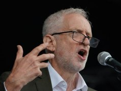 Labour Party leader Jeremy Corbyn criticizes Hunt and Johnson for not calling Trump's remarks racist.