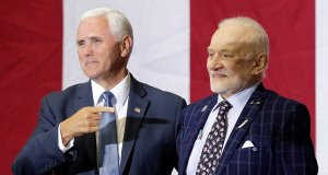 Mike Pence and Buzz Aldrin of Apollo 11.