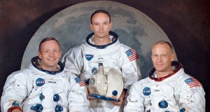 Apollo 11 astronauts revealed at Nasa's Kennedy Space Centre's Launch Complex 39A in Florida.