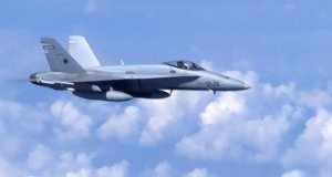NATO f18 jet flew too close to russian plane