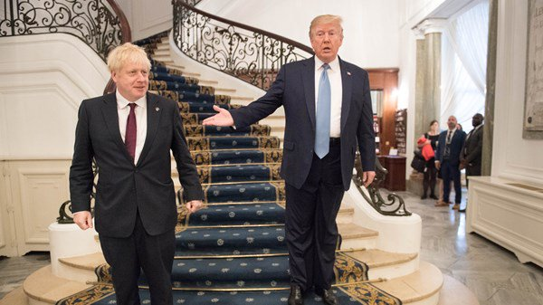 Donald Trump and Boris Johnson at the G7 summit
