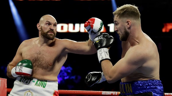 Tyson Fury beats Otto Wallin in Las Vegas battle