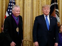 Donald Trump awards medals to Jon Voight and Alison Krauss