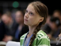 Greta Thunberg (climate Change) was sitting on the floor of a train to Germany