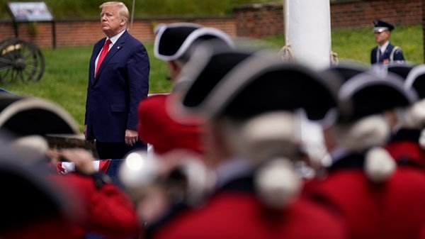 Donald Trump honours fallen soldiers on Memorial Day