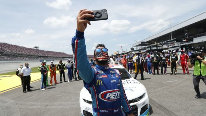 AP photo nascar racer unites with colleagues after death of black racer