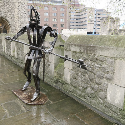 Kids love to see this knight when they visit the Tower, though I find him a bit ghostly / Jill Browne