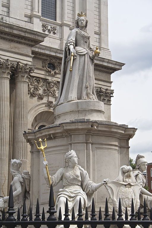 Statue of Queen Anne at St. Paul's Cathedral