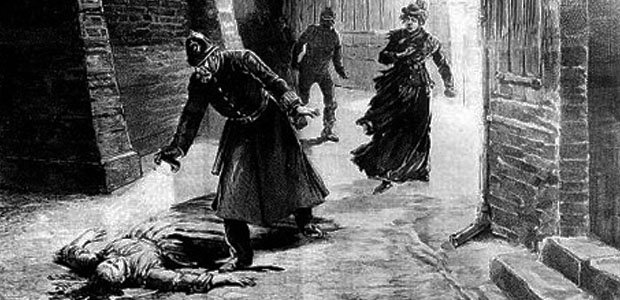Mandatory Credit: Photo by Roger-Viollet / Rex Features ( 437381aa ) Engraving of the tenth murder committed by Jack the Ripper in Whitechapel - 1891 VARIOUS, LONDON, BRITAIN